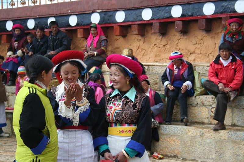 filles-tibetains-de-Shangrila Yunnan