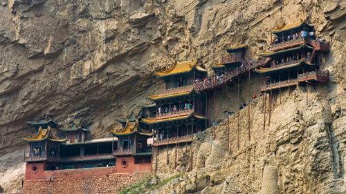 Datong Le temple suspendu FM Ciel Chine