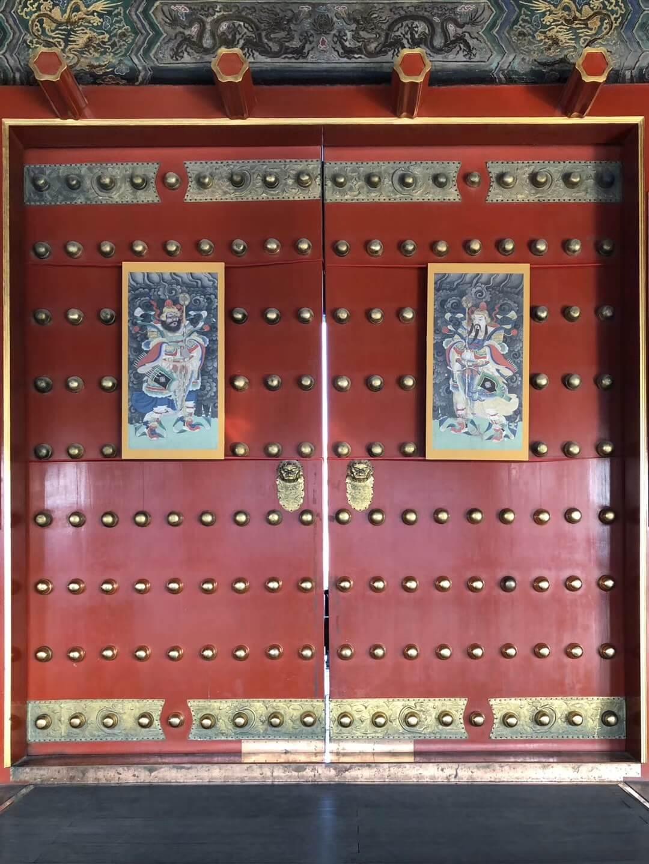 La porte de la cite d'interdite Pekin Chine
